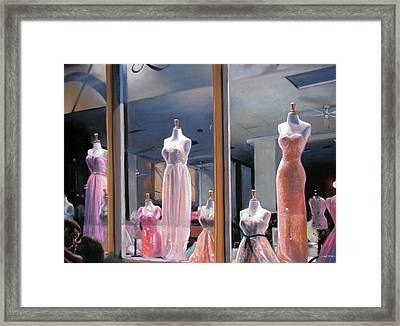 Night, Gowns Framed Print by Christopher Reid