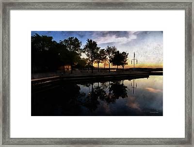Night Harbour Framed Print