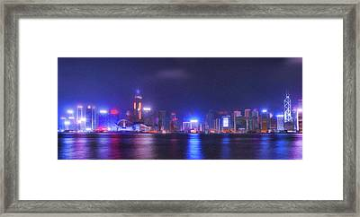Night Hong Kong Framed Print