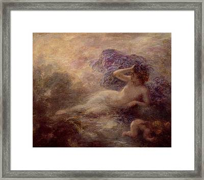 Night Framed Print by Ignace Henri Jean Fantin Latour