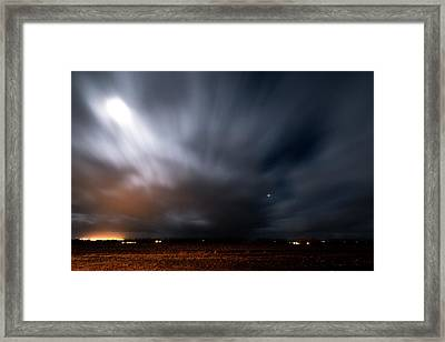 Framed Print featuring the photograph Night In Iceland by Dubi Roman