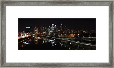 Night In Philly Framed Print by Jennifer Ancker