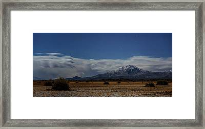 Framed Print featuring the photograph Night In The Alvord Desert by Cat Connor