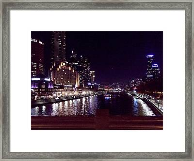 Night In The City Framed Print by Chi Nguyen