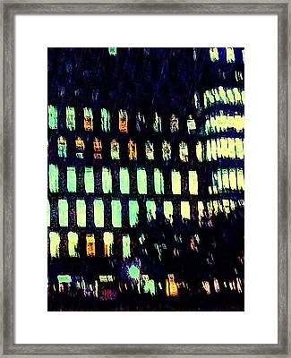Night In The City Framed Print