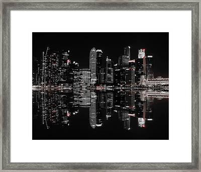 Night In The City Framed Print by Hardibudi