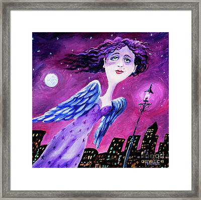 Framed Print featuring the painting Night In The City by Igor Postash