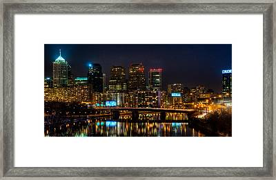 Night In The City Of Brotherly Love Framed Print by Louis Dallara