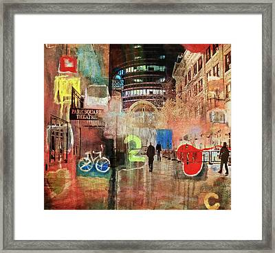 Framed Print featuring the photograph Night In The City by Susan Stone