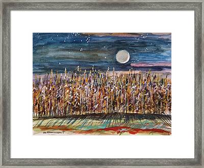 Night In The Cornfield Framed Print by John Williams