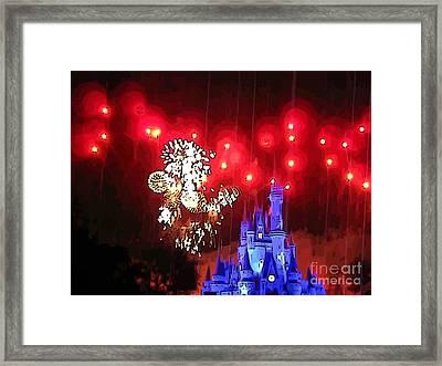 Night In The Magic Kingdom Framed Print