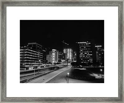 Night In The Medical Center Framed Print