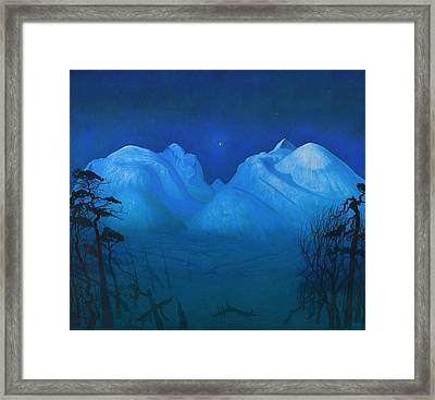 Night In The Mountains Framed Print