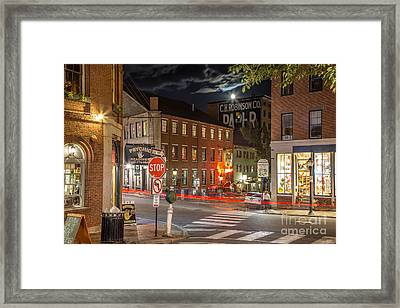 Night In The Old Port Framed Print by Benjamin Williamson