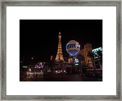 Night In Vegas Framed Print