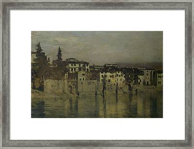 Night In Verona Framed Print