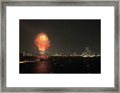 Night In Yokohama T6j013 Framed Print by Yoshiki Nakamura
