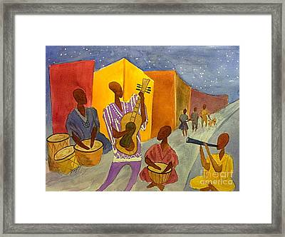 Night Jammin In The Street Abstract Framed Print