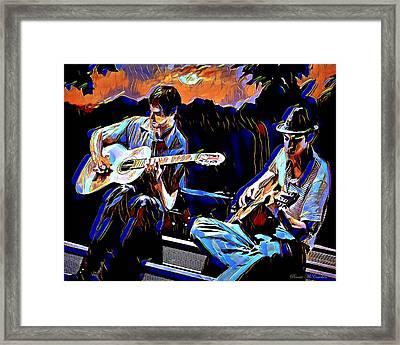 Night Jammin Framed Print