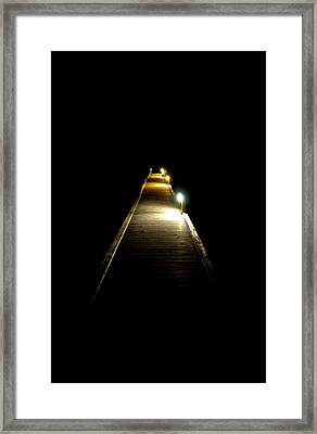 Night Jetty Framed Print by Andrew Dickman