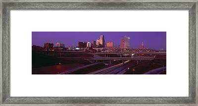Night, Kansas City, Missouri Framed Print by Panoramic Images