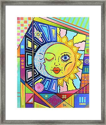 Night Kisses Daylight Framed Print
