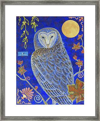 Night Knowledge Framed Print by Aimee Mouw