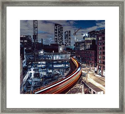 Night L Framed Print