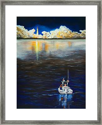 Night Launch Framed Print by Dorothy Riley