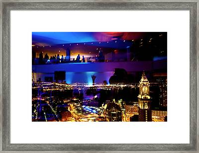 Night Life Framed Print by Andrew Kubica