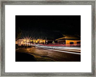 Night Life In Old Town Helena Framed Print by Parker Cunningham