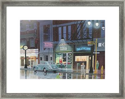 Night Life In The 1940s Framed Print