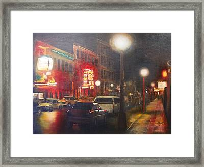 Night Life Framed Print by Victoria Heryet