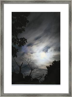 Framed Print featuring the photograph Night Light by Diane Merkle
