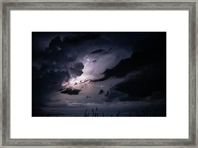 Night Lightening Framed Print