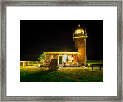 Night Lighthouse Framed Print by Steve Spiliotopoulos
