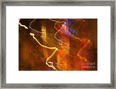 Night Lights 3 Framed Print by Layne Hardcastle