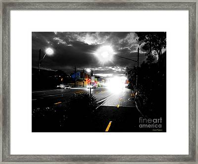 Night Lights And Ufos Framed Print