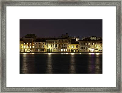 Night Lights Framed Print by Marion Galt