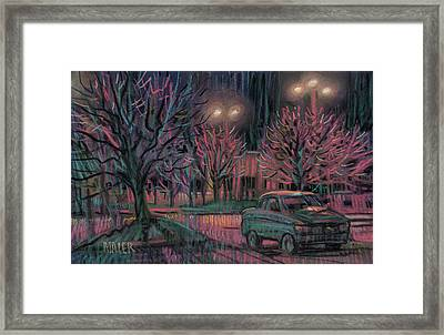 Night Lot Framed Print