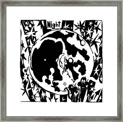 Night Maze Framed Print by Yonatan Frimer Maze Artist