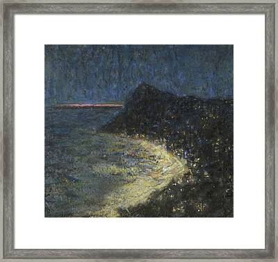 Night Motif From Capri Framed Print by Ants Laikmaa