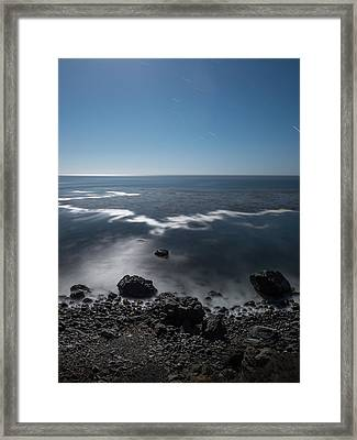Framed Print featuring the photograph Night Near Gorda by Alexander Kunz