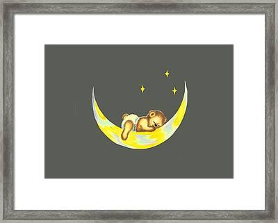 Night Night Teddy Framed Print by Linda Lindall
