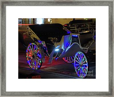 Night Of Lights Carriage Ride Framed Print by D Hackett