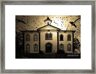 Night Of The Birds . Sepia . 7d12487 Framed Print by Wingsdomain Art and Photography