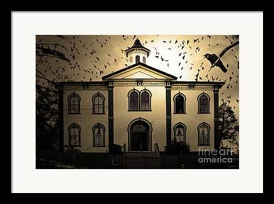 Potter School House Framed Prints