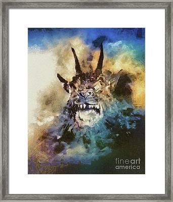 Night Of The Demon, Vintage Horror Framed Print