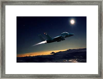 Night Of The Eagle Framed Print by Peter Chilelli
