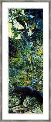 Night Of The Panther Framed Print by Anne Weirich